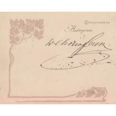 Chorin Ferenc (1842-1925) jogász, politikus, üzletember barna tintával írt, sk. aláírása