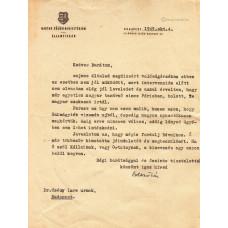 Boldizsár Iván (1912-1988) író, újságíró géppel írt, barna tintával, sk. aláírt levele
