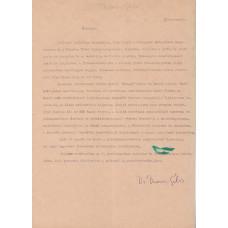 Devecseri Gábor (1917-1971) költő, műfordító géppel írt, kék golyóstollal, sk. aláírt önéletrajza