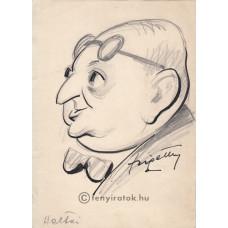 Szigethy István (1891-1966) festő, grafikus eredeti, szignált rajza