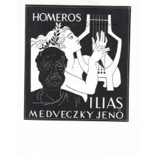 Medveczky Jenő (1902-1969) festő, grafikus Iliász illusztrációi (teljes, 49 db.)