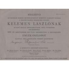 Meghívó Bulyovszkyné Szilágyi Lilla (1833-1909) színésznő, műfordító részére