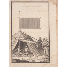 Török előkelők sátrukban, rézmetszet Birkenstein könyvéből