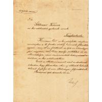 Wekerle Sándor (1848-1921) politikus, miniszterelnök barna tintával, sk. aláírt kinevezése
