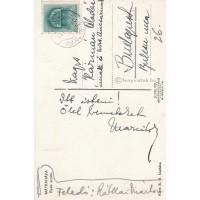 Rátkai Márton (1881-1951) színész kék tintával írt, aláírt, sk. üdvözlete