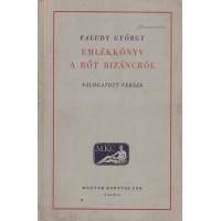 Faludy György: Emlékkönyv a rőt Bizáncról