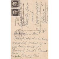 Bársony Rózsi 81909-1977) színésznő kék tintával írt, aláírt, sk. képeslapja