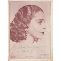 Lipinskaja, Dela (1907-1982) orosz énekesnő, színésznő grafitceruzával írt, sk. aláírása